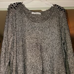 Maurices plus size 1 black sequins sweater